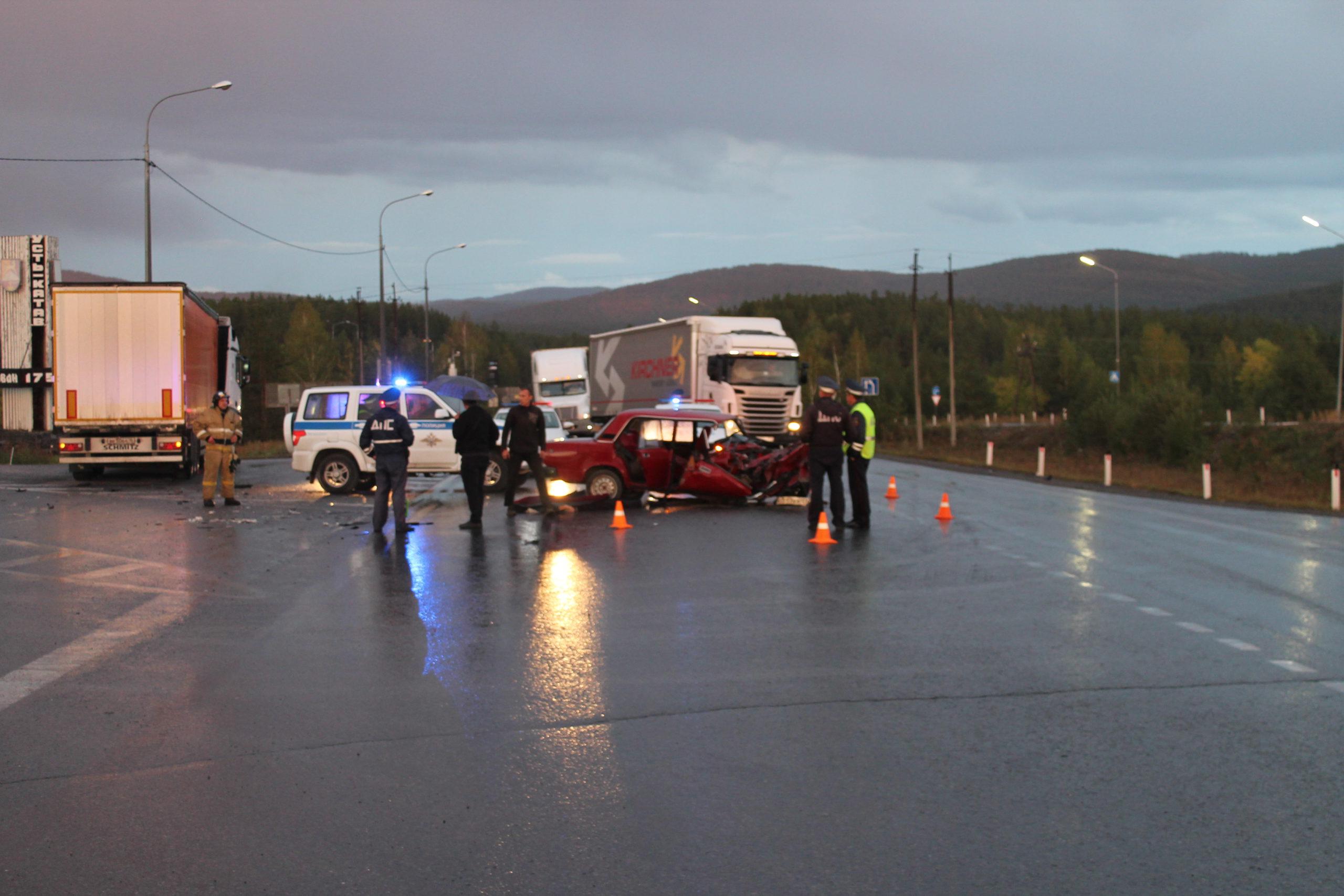 На трассе М-5 под Усть-Катавом произошло смертельное ДТП